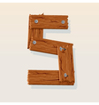 wooden type 5 vector image vector image