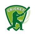 cricket batsman shield vector image