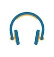 Headphones in flat style vector image vector image