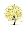 Art floral tree yellow for your design vector image