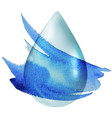 clear drop vector image