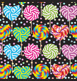colorful seamless pattern candy lollipops spiral vector image