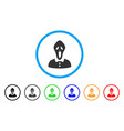 horror rounded icon vector image