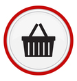 icon basket vector image