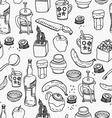 Kitchen stuff seamless pattern vector image