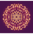 ornamental circle vector image