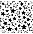 seamless pattern with black stars vector image