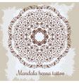 Mandala Beautiful hand-drawn floral round ornament vector image
