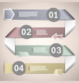 Infographic ribbons for data presentation vector image vector image