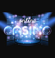jackpot casino win lettering stage vector image