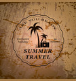 summer travel emblem vector image