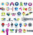 biggest collection of logos hands vector image