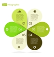 Modern info graphic for eco project vector image
