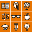 education concepts in flat outline style vector image vector image