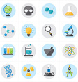 Flat Icons For Science Icons vector image