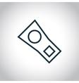 Zipp single flat icon vector image