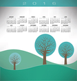 2016 Creative trees landscape vector image