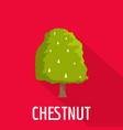 chestnut tree icon flat style vector image
