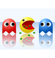 Game ghost monsters pacman vector image