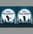 happy halloween scary posters vector image