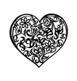 Heart tattoo black vector image
