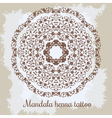 Mandala Beautiful hand-drawn floral round ornament vector image