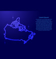 map canada from luminous blue star space points vector image