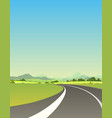 on the road to summer vector image