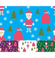 Seamless Santa Claus and gifts vector image
