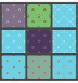 Set of seamless patterns in point with polka dots vector image