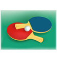 Tennis rackets and tennis ball vector image