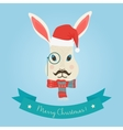 Christmas cute forest hare bunny rabbit head logo vector image
