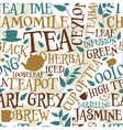 Tea seamless tile vector image