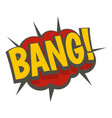 bang comic book explosion icon isolated vector image