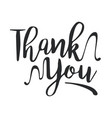 thank you black handwritten inscription vector image