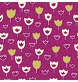 Seamless pattern wirh tulips and grass vector image