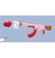 Love gun Kiss Valentines day Cupids rifle vector image