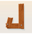 wooden letter j vector image vector image