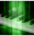 Abstract green music background with piano keys vector image