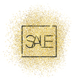 Sale Gold Glittering Card vector image vector image