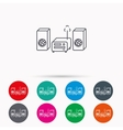 Music center icon Stereo system sign vector image