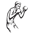 boxer preparing for a fight vector image