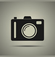 camera icon in flat style isolated vector image