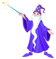 Cartoon wizard vector image