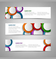 collection white banners with colorful circles vector image
