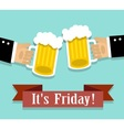 Friday relaxation and alcohol vector image
