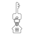 house key linework symbol vector image