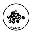 Icon of Blueberry vector image