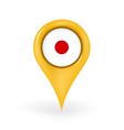 Location Japan vector image