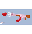 Love gun Kiss Valentines day Cupids rifle vector image